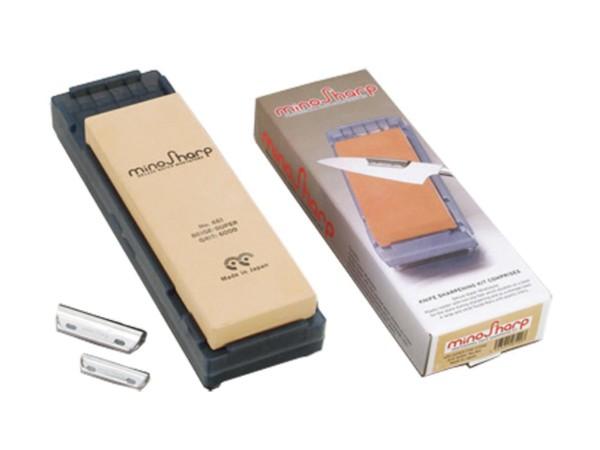 Mino Sharp Nassschleifstein inklusive Schleifhilfe