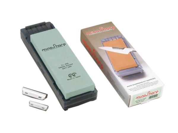 Mino Sharp Nassschleifstein grob inklusive Schleifhilfe