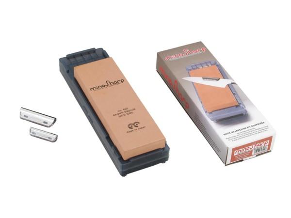 Mino Sharp Nassschleifstein mittel inklusive Schleifhilfe