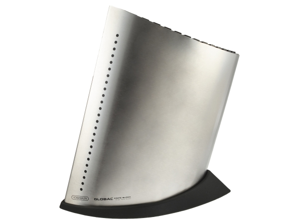 Global GKB51 Messerblock groß für bis zu 20 Messer und einen Schleifstab